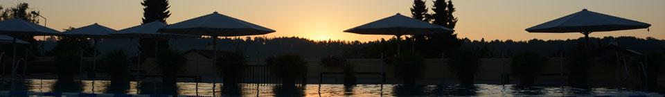 Sonnenaufgang Schwimmbad Wolfensberg